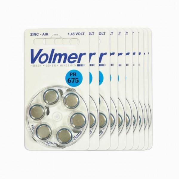 Hörgeräte Batterien Volmer PR 675 10x6 Stück